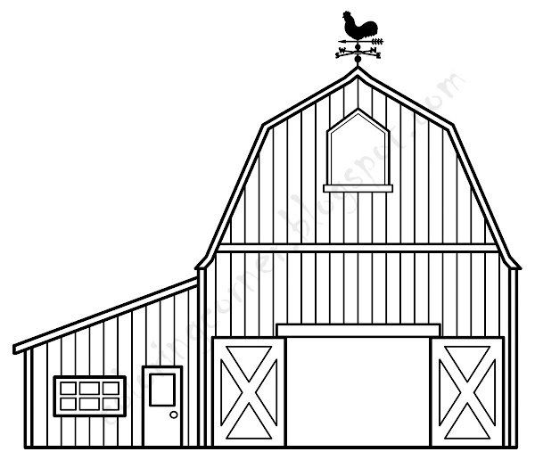 barn coloring pages to print - cartoon animal drawing books