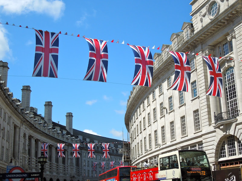 Queens Diamond Jubilee Union Jacks London