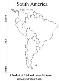 Blank Map Of South America With Word Bank