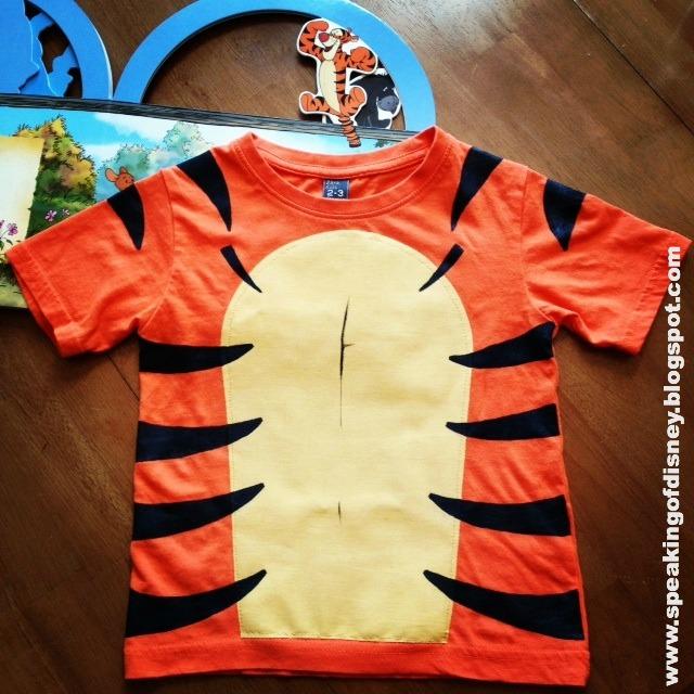 Diy tigger t shirt costume for Diy disney shirt template