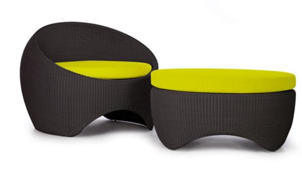 Marzua muebles de mimbre pero modernos for Muebles de exterior modernos