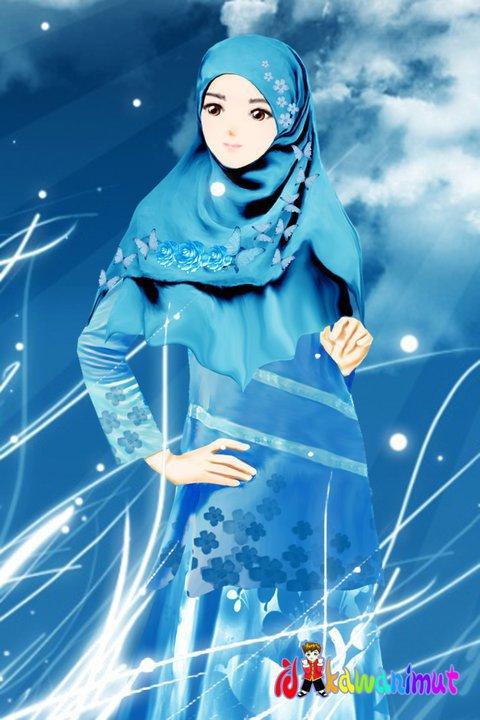1001 Foto Animasi Muslimah Cantik Galau Anggun Malu Apexwallpapers
