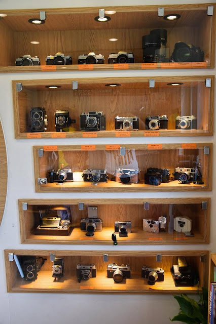 cameras inside dreamy camera cafe