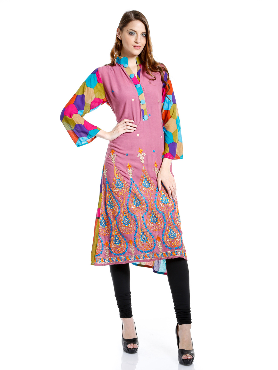 Shirt ke design - Pocket Style Long Shirts Folding Long Kameez With Churidaar Trouser Clothing9 Blog