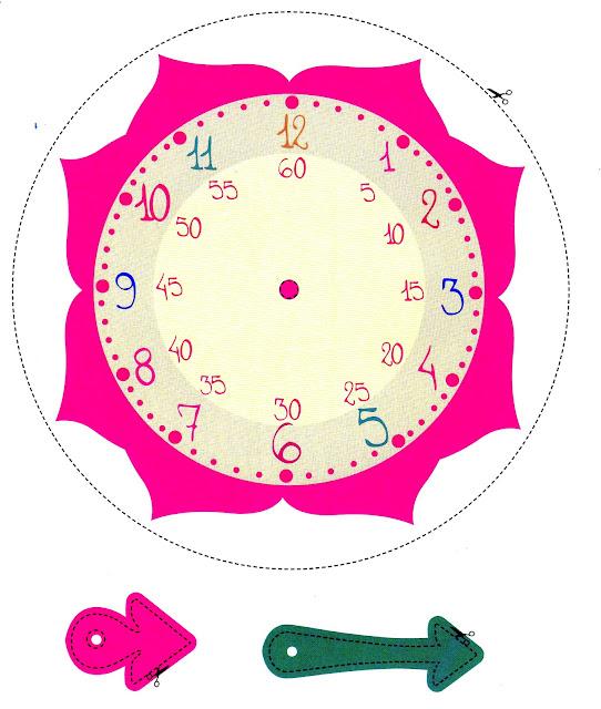 4b en internet la hora - Dibujos de relojes para imprimir ...