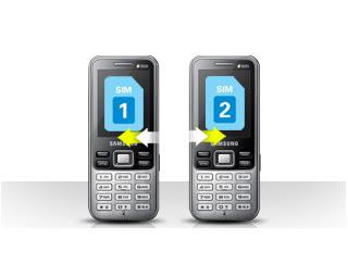 Fitur unggulan Samsung C3322: Dual Sim - Dual On