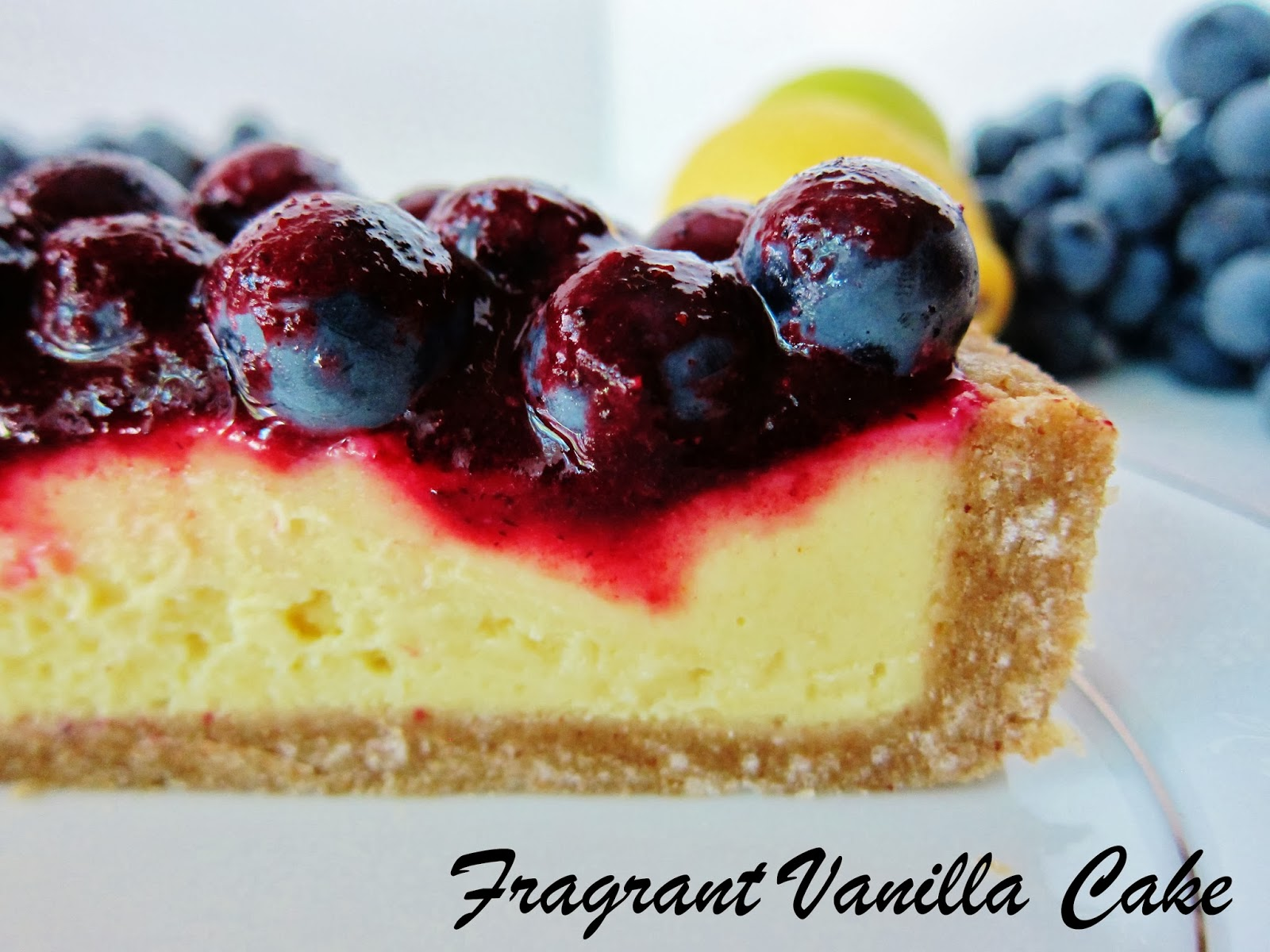 Fresh Grape Cake With Luscious Lemon Sauce Recipe — Dishmaps