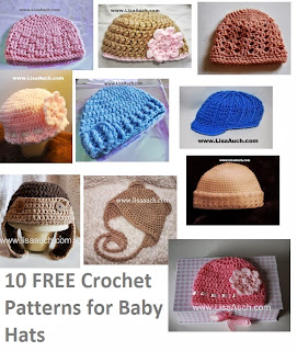 free crochet patterns-10- free crochet patterns baby hats-christmas Crochet Patterns-free crochet patterns