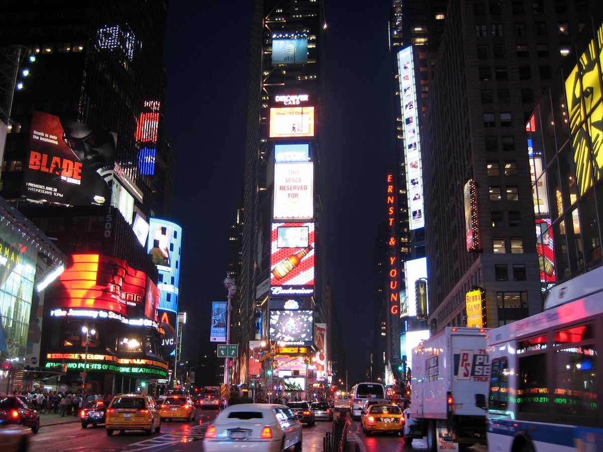 Times square new york usa luxury places for Places to see in nyc at night