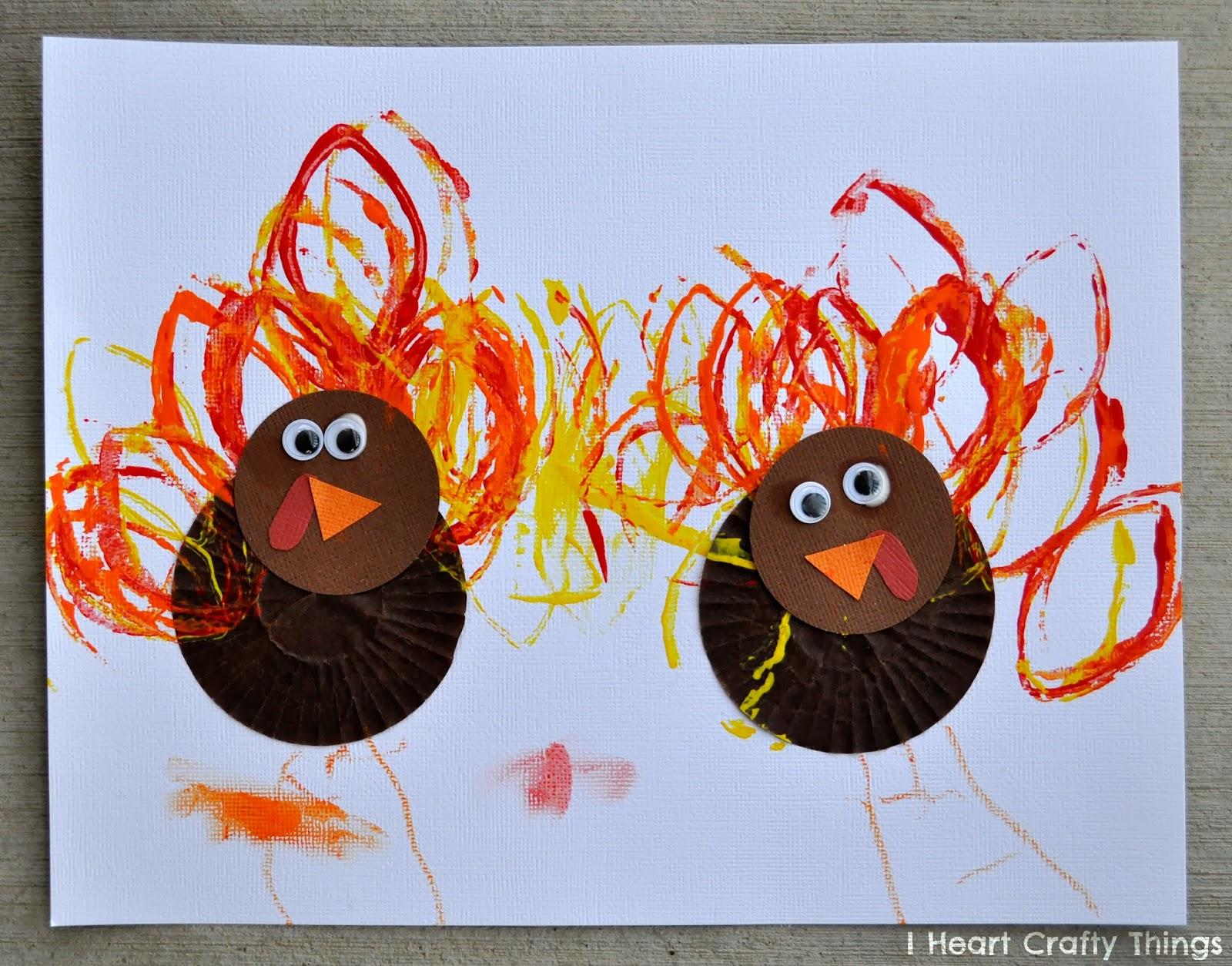 Cupcake liner turkey craft i heart crafty things cupcake liner turkey craft jeuxipadfo Gallery