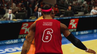 NBA 2K13 Miami Heat Red Xmas Jersey Patch