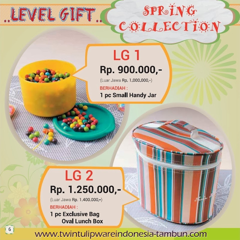 Level Gift Tulipware | Maret - April 2014