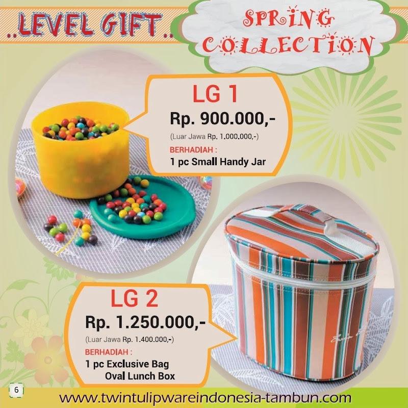 Level Gift Tulipware Tupperware Maret - April 2014