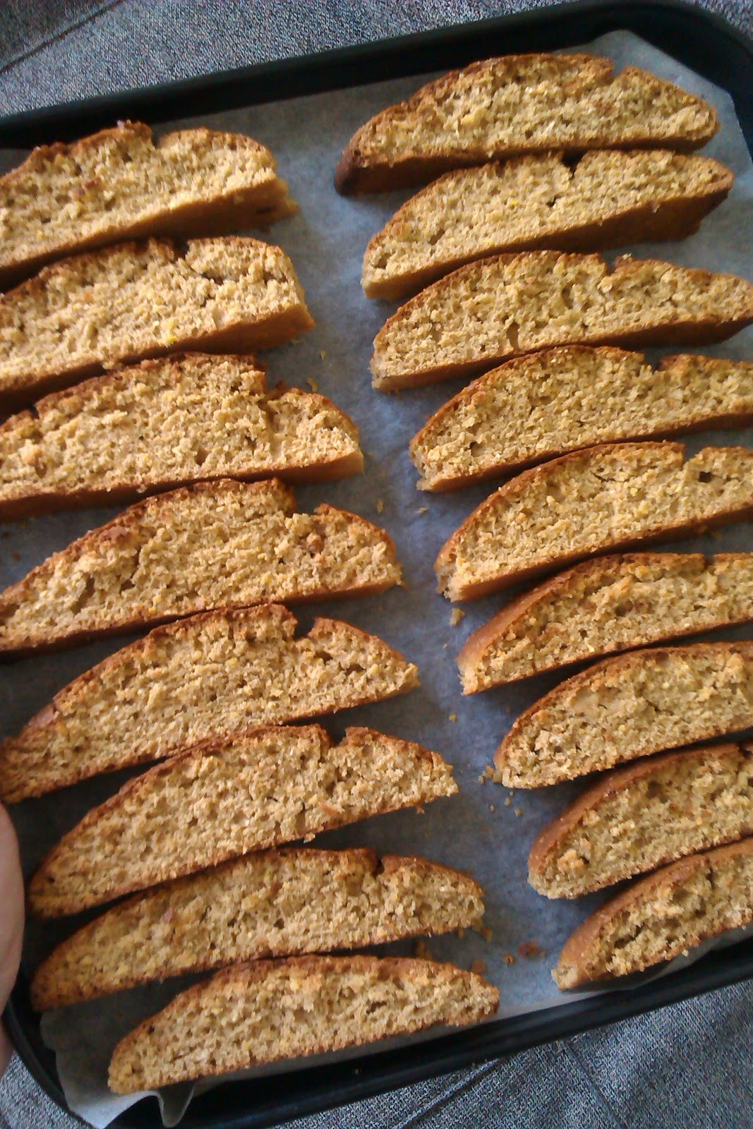 sketches from the other side: Recipe: Almond Cornmeal Biscotti