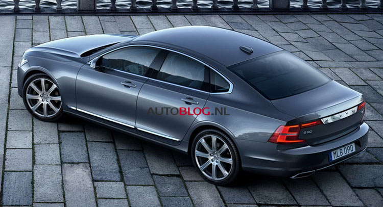 this just in new volvo s90 leaked ahead its official debut. Black Bedroom Furniture Sets. Home Design Ideas