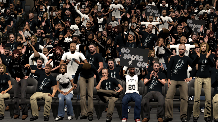 NBA 2K14 Spurs Finals Stadium Crowd