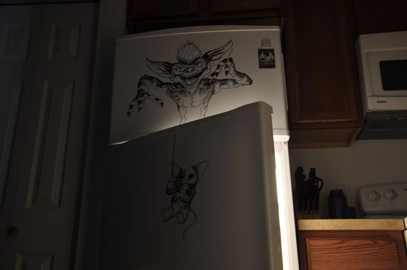Dibujos creativos sobre la puerta de nuestras neveras.
