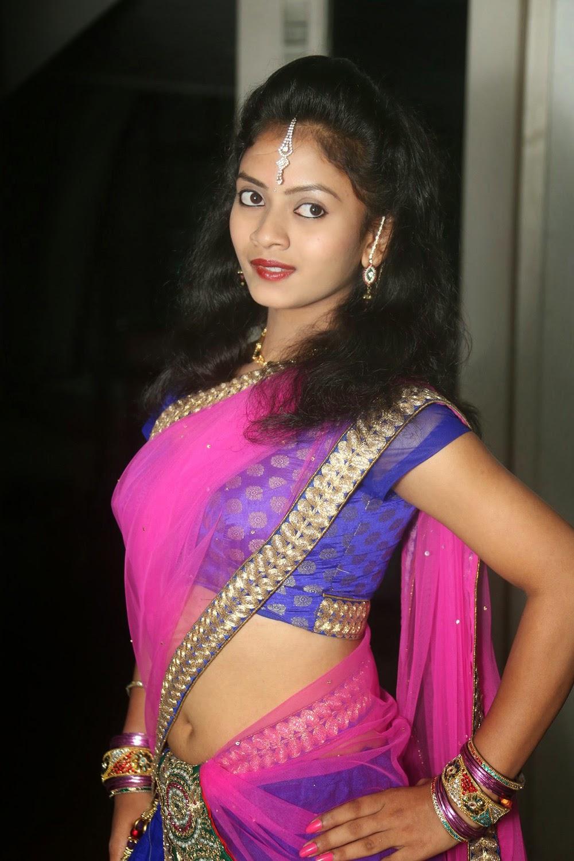 Young actress Jaya Harika in half saree-HQ-Photo-6