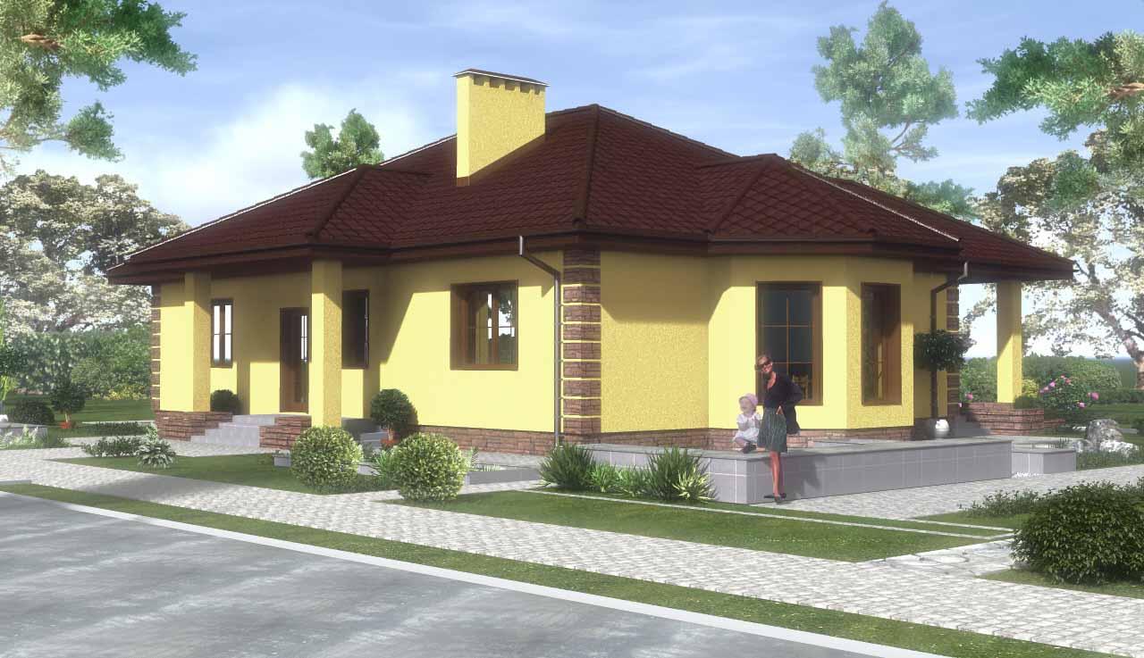 Одноэтажный дом из газосиликатных блоков своими руками 79