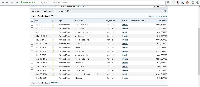 bukti payment paypal