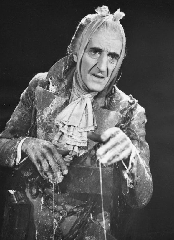 from the 1954 tv musical adaptation of a christmas carol with basil rathbone as marleys ghost - Original Christmas Carol