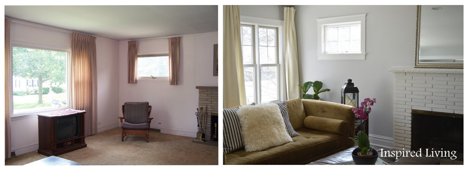 Inspired living living room before and afters - Before and after the spectacular change of a s living room ...