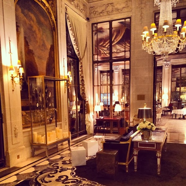 Le Meurice Hotel reception in Paris