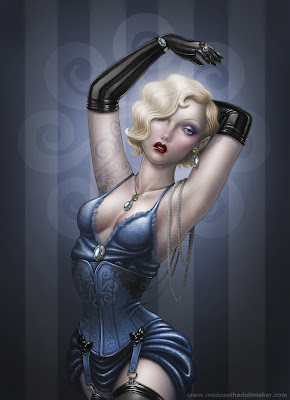 Burlesque pin up