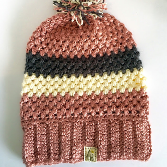 Striped Crochet Slouch Beanie
