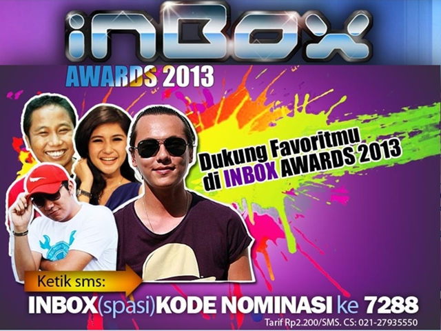 SCTV Inbox Awards 2013 [image by @aLiefNK]