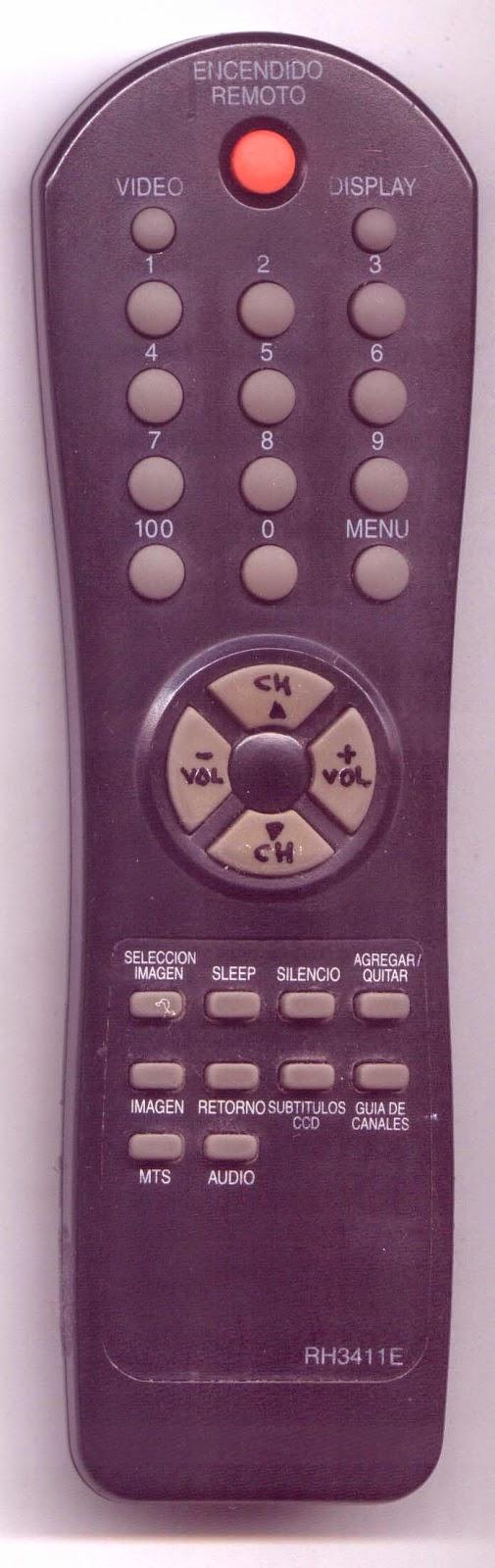 control remoto RH3411E