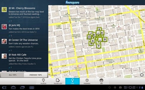 Foursquare Android Apk resimi 3
