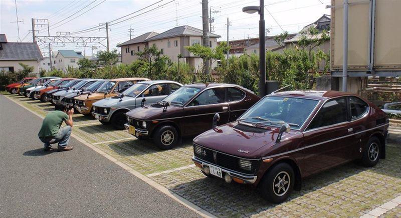 Suzuki Fronte Coupe, klasyczne kei car, małe samochody z dawnych lat, galeria zdjęć, nuotraukos