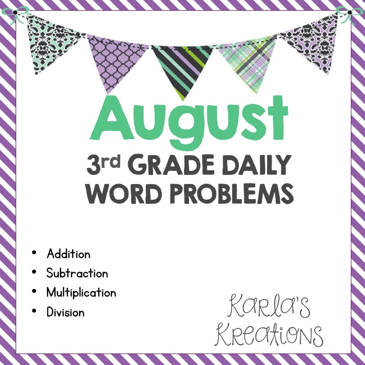 Karla\'s Kreations: Daily Word Problems for 3rd Grade