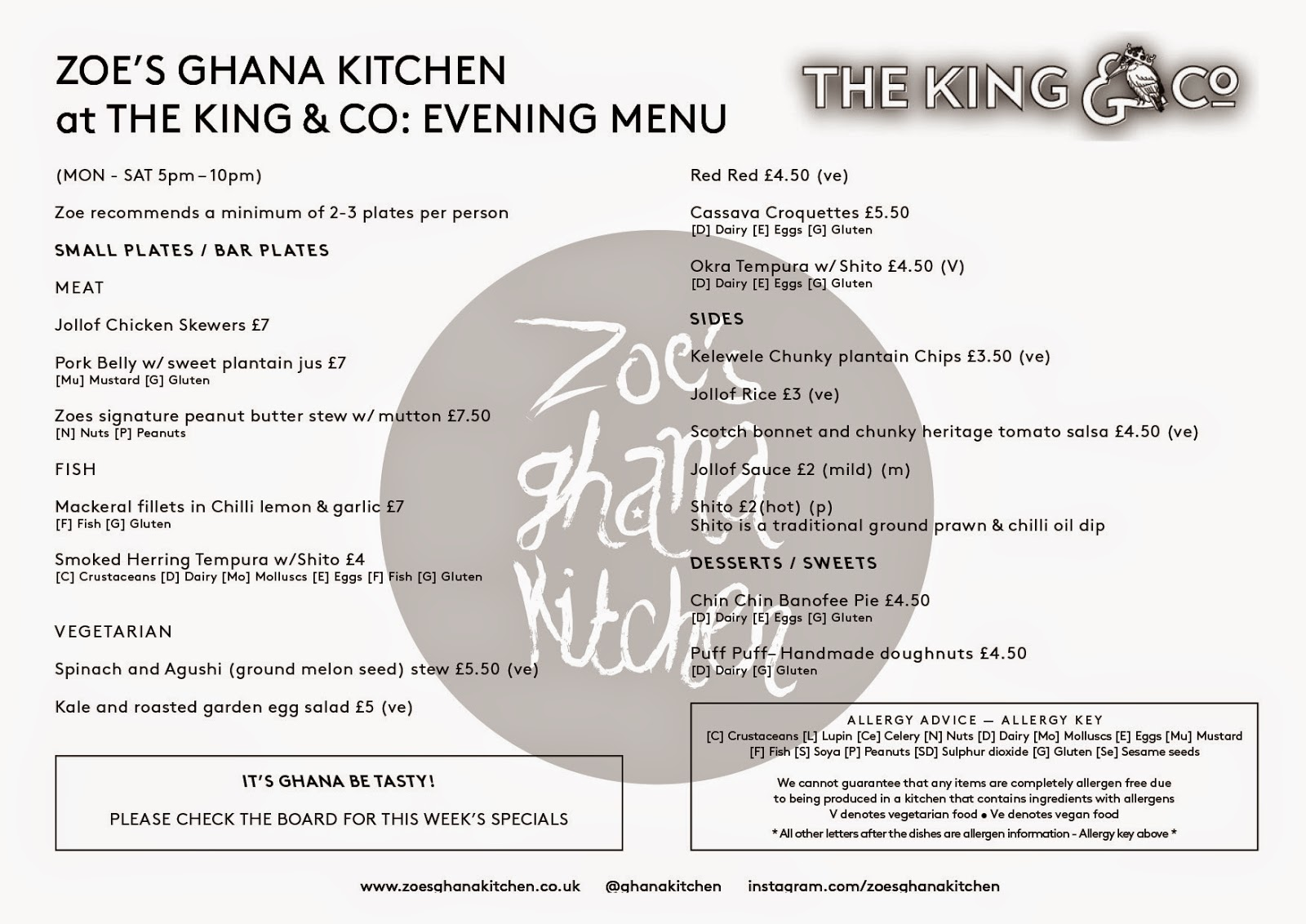 a little lusciousness: ZOE\'S GHANA KITCHEN @ THE KING & CO