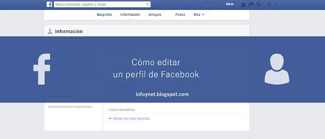 Cómo editar un perfil en Facebook