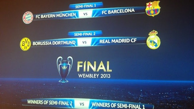 Jadwal Babak Semi-Final dan Final Liga Champions 2013