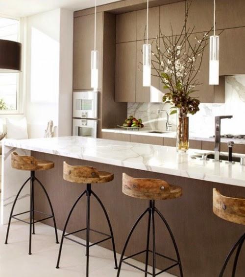 marmol en cocina