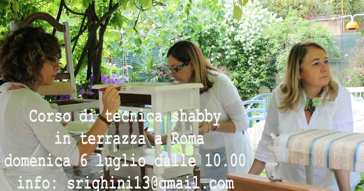 Shabby chic joy corso di tecnica shabby a roma in terrazza - Corso di design roma ...