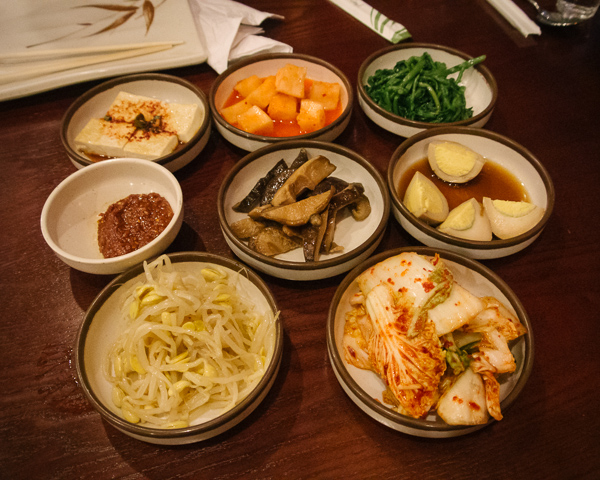 Banchan  at Seoul Garden in Nashville Tennessee