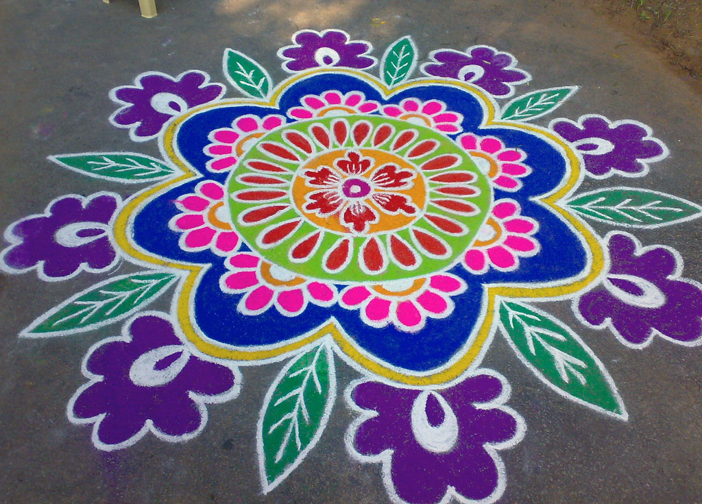 20 Unique And Beautiful Colour Rangoli Designs For Diwali Total Stylish