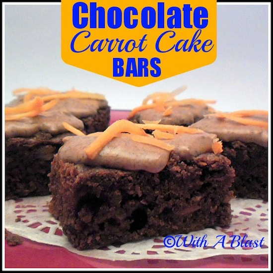 Chocolate Carrot Cake Bars