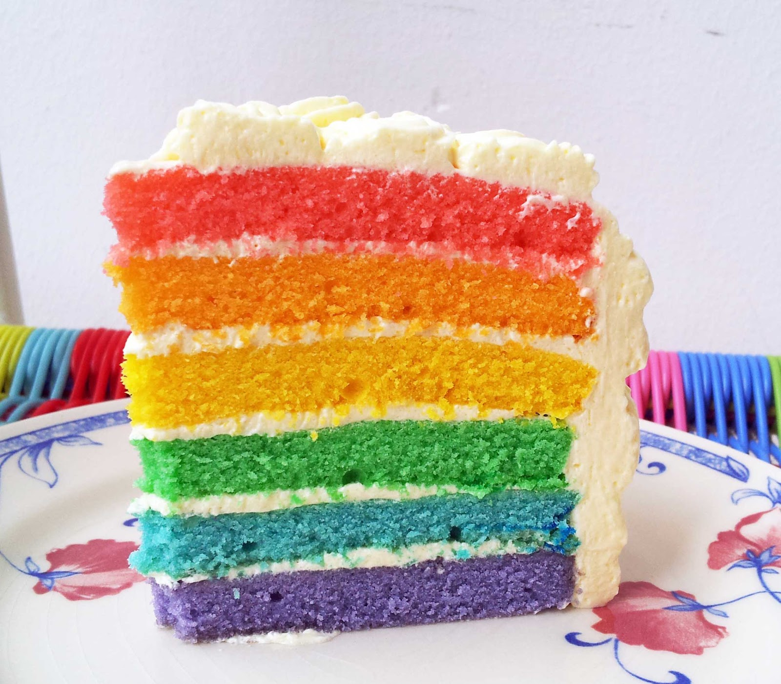 made by shas: Rainbow cake