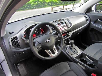 2011 Kia Sportage EX AWD interior - Subcompact Culture