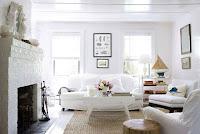 decoración sala blanca