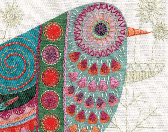 Detail CUCKOO new embroidery kit from http://www.nancynicholson.co.uk/