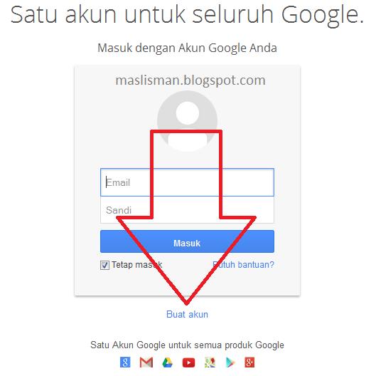 Cara Membuat Akun Google ( Gmail, Youtube, dan lainya )