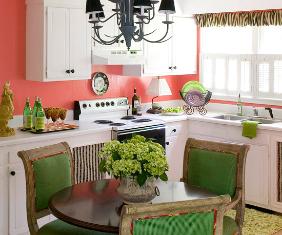 coral kitchen cabinet colors Willow House with Lynn: WOW! Kitchen Color Fun