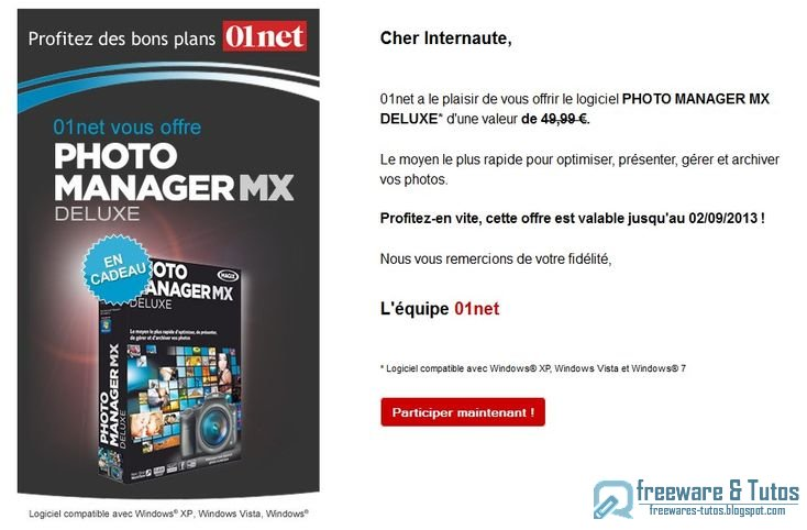 offre promotionnelle magix photo manager mx deluxe gratuit freewares tutos. Black Bedroom Furniture Sets. Home Design Ideas