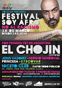 . la Diáspora Africana de la Argentina (DIAFAR) organiza el Festival Soy . afiche soy afro front internet